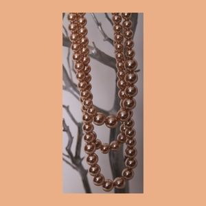 Jewelry - A Long Three Layered Faux Pearls Necklace